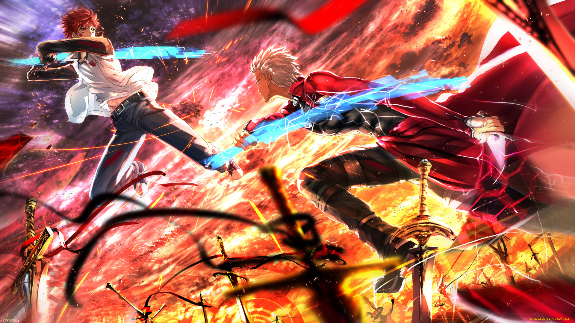 аниме, fate, stay night,  grand order,  apocrypha, судьба